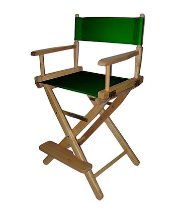 Green & Natural Counter Height Director's Chair