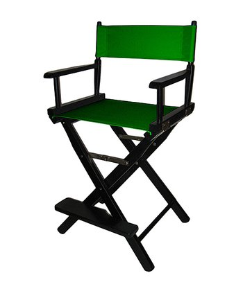 Green & Black Counter Height Director's Chair