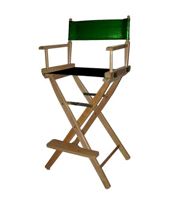 Green & Natural Bar Height Director's Chair