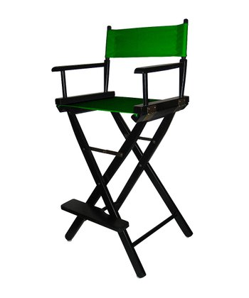 Black & Green Bar Height Director's Chair