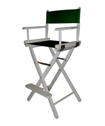 White & Green Bar Height Director's Chair