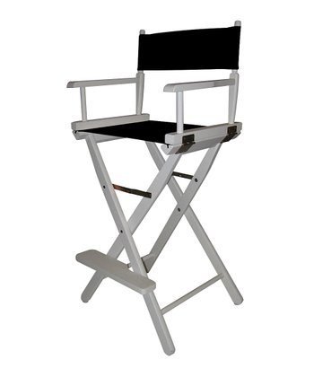 White & Black Bar Height Director's Chair