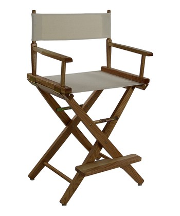 Natural Extra-Wide American Oak 24'' Director's Chair