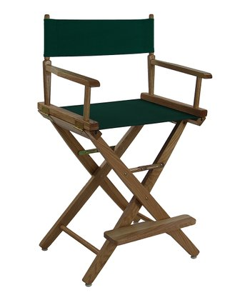 Green & Natural Extra-Wide American Oak 24'' Director's Chair