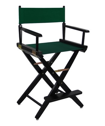 Green & Black Extra-Wide American Oak 24'' Director's Chair