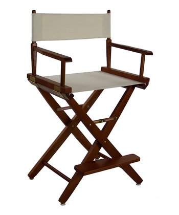 Natural & Brown Extra-Wide American Oak 24'' Director's Chair