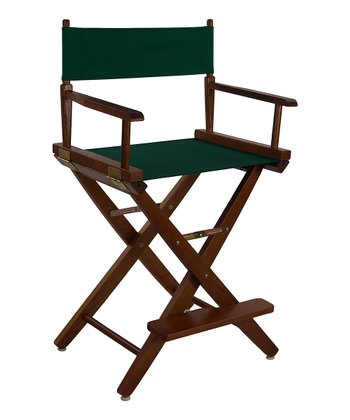 Green & Brown Extra-Wide American Oak 24'' Director's Chair