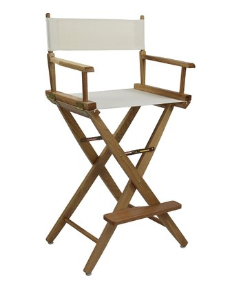 Natural Extra-Wide American Oak 30'' Director's Chair