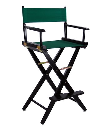 Green & Black Extra-Wide American Oak 30'' Director's Chair