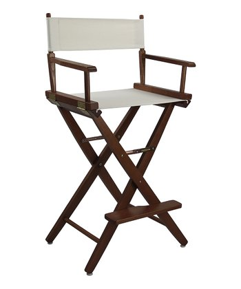 Brown & Natural Extra-Wide American Oak 30'' Director's Chair