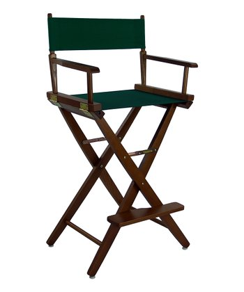 Green & Brown Extra-Wide American Oak 30'' Director's Chair