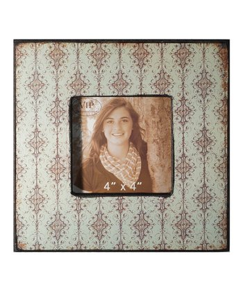Damask Wallpaper Wood Photo Frame