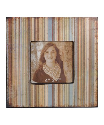 Distressed Stripes Wood Photo Frame