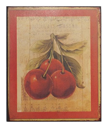 Cherries Wood Wall Art