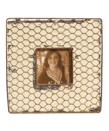 Ivory Chicken Wire Frame