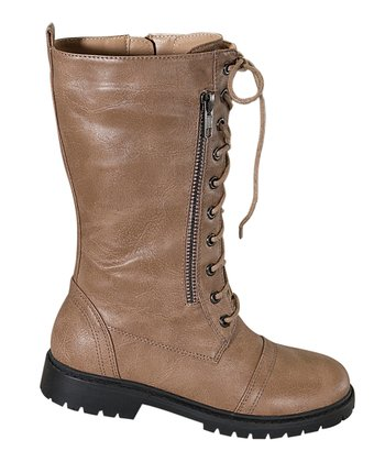 Taupe Rumba-K Lace-Up Boot