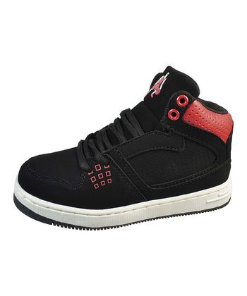 Black & Red Basketball Hi-Top Sneaker