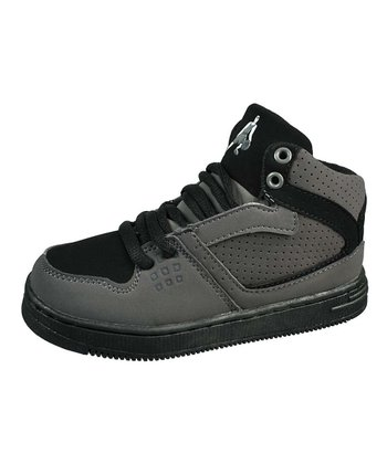 Gray & Black Basketball Hi-Top Sneaker