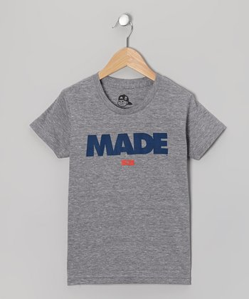 Athletic Gray 'Made' Tee - Toddler & Boys