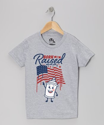 Heather Gray 'Born and Raised' USA Tee - Toddler & Boys