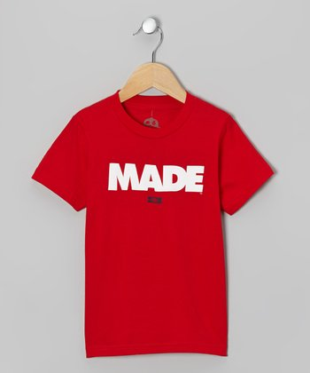 Red 'Made' Tee - Toddler & Boys