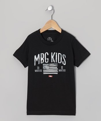 Black 'Americana' Tee - Toddler & Boys