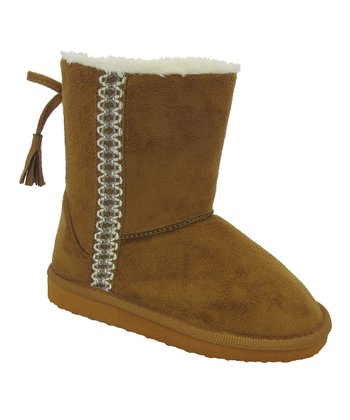 Camel Embroidered Angie Boot