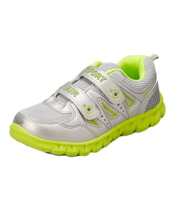 Neway Shoes Sliver & Light Yellow Sport Air Running Shoe