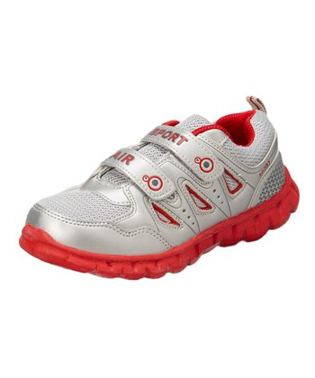 Neway Shoes Silver & Red Sport Air Running Shoe