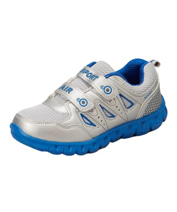Neway Shoes Silver & Blue Sport Air Running Shoe