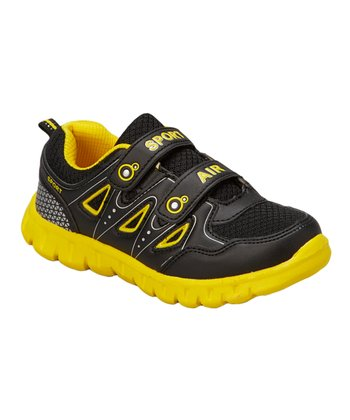 Neway Shoes Black & Yellow Sport Air Running Shoe