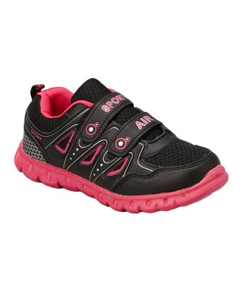Neway Shoes Black & Fuschia Sport Air Running Shoe