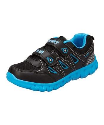 Neway Shoes Black & Light Blue Sport Air Running Shoe