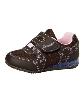 Dream Seek Brown & Pink Light-Up Sneaker
