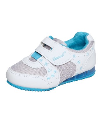 Dream Seek White & Aqua Light-Up Sneaker