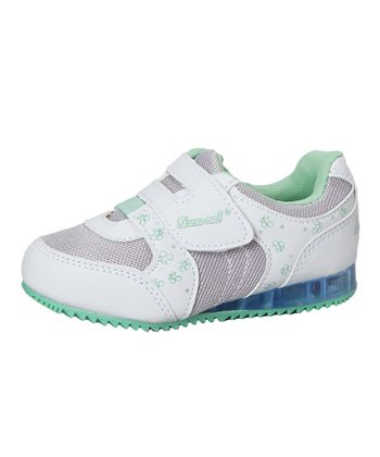 Dream Seek White & Mint Light-Up Sneaker