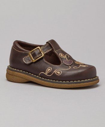 Brown Becca T-Strap Shoe