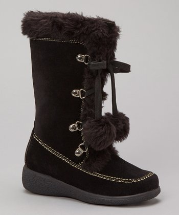 Black Suede Mila Boot