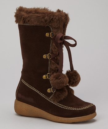 Brown Suede Mila Boot