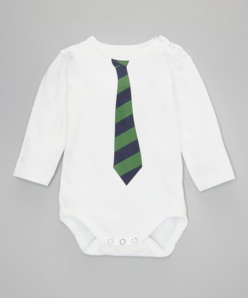 White Tie Bodysuit - Infant