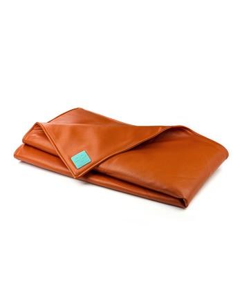 Orange Faux Leather Playmat