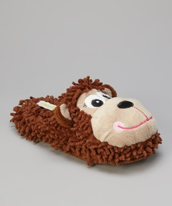 Brown Monkey Open-Back Slippers - Women