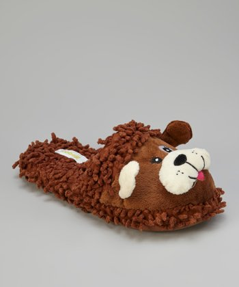 Brown Dog Open-Back Slippers - Women