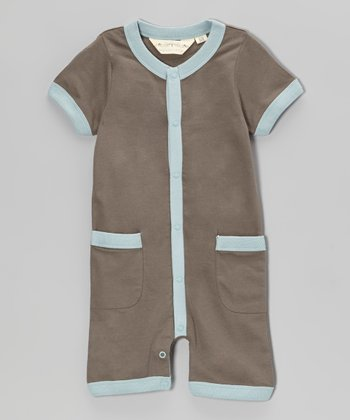 Blue & Gray Organic Romper - Infant