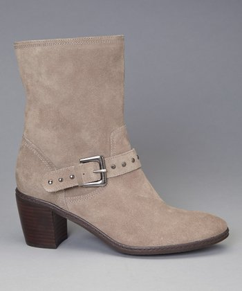 Taupe Suede Brier Ankle Boot