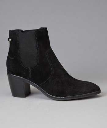 Black Suede Bunty Ankle Boot