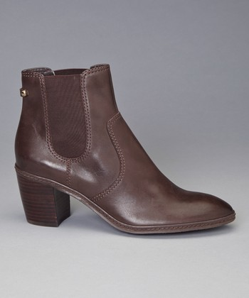 Dark Brown Leather Bunty Ankle Boot