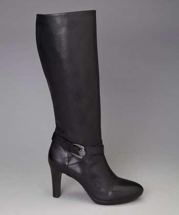 Black Leather Cadencia Boot