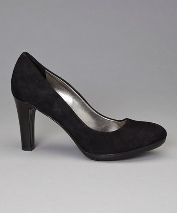 Black Suede Clemence Pump