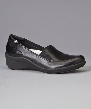 Black Gunnar Wedge Loafer